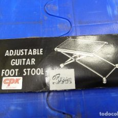 Instrumentos musicales: SOPORTE O BASE PARA GUITARRA ADJUSTABLE GUITAR FOOT STOOL. Lote 136816890