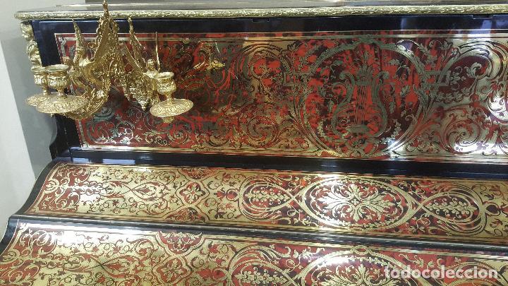 Instrumentos musicales: Piano boulle Napoleón III. Espectacular. Piano antiguo siglo XIX. - Foto 2 - 5538763