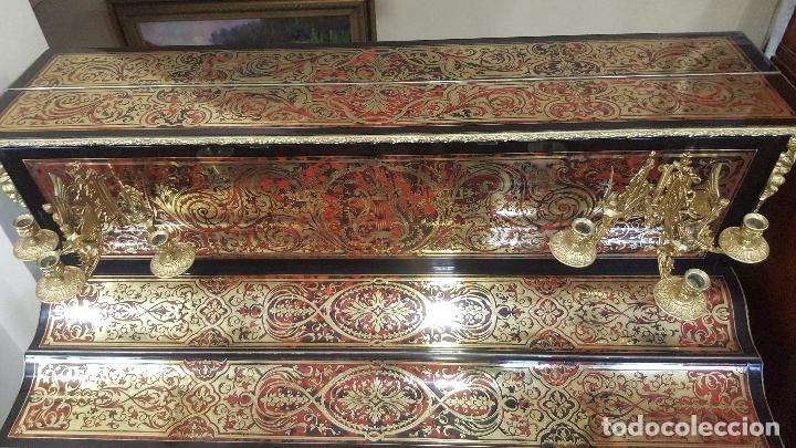 Instrumentos musicales: Piano boulle Napoleón III. Espectacular. Piano antiguo siglo XIX. - Foto 5 - 5538763