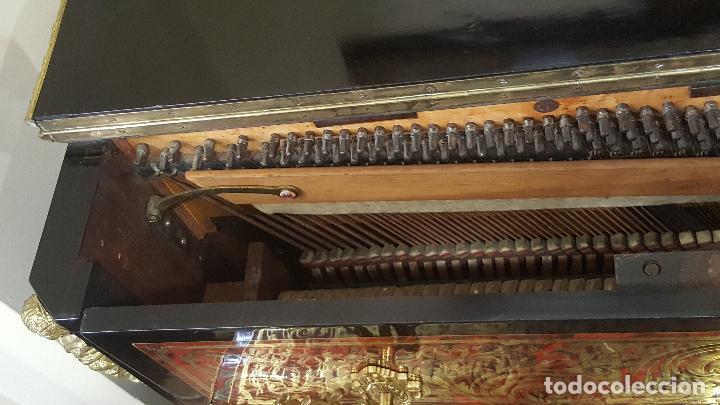 Instrumentos musicales: Piano boulle Napoleón III. Espectacular. Piano antiguo siglo XIX. - Foto 8 - 5538763