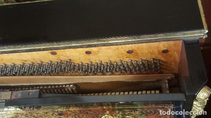 Instrumentos musicales: Piano boulle Napoleón III. Espectacular. Piano antiguo siglo XIX. - Foto 9 - 5538763