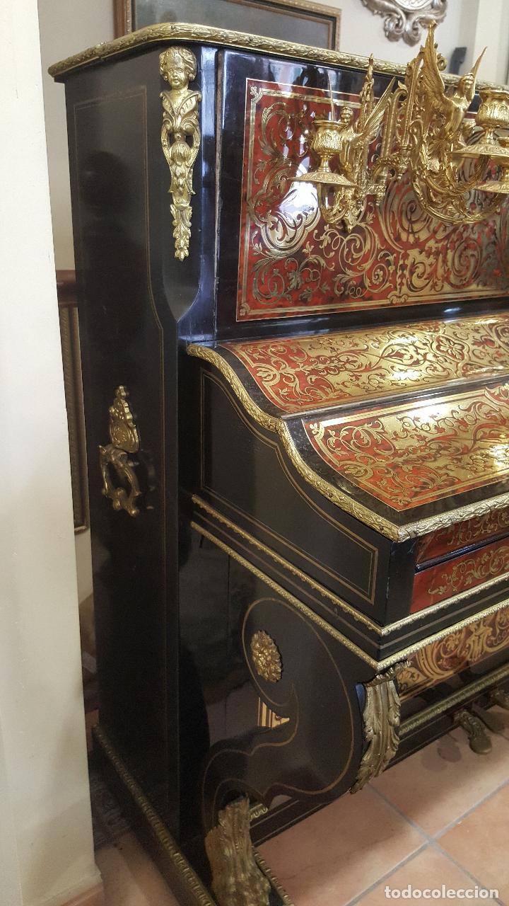Instrumentos musicales: Piano boulle Napoleón III. Espectacular. Piano antiguo siglo XIX. - Foto 10 - 5538763