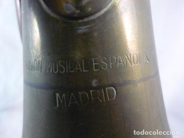 Instrumentos musicales: Corneta Unión Musical Española Madrid - 40cm - Funciona - Foto 10 - 139167926