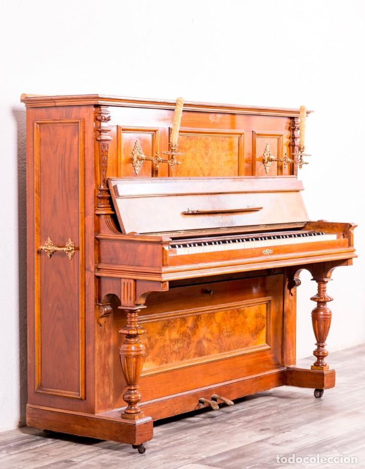 Instrumentos musicales: Piano Antiguo Alemán Bieger - Foto 2 - 139813746