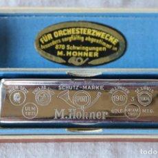 Instrumentos musicales: ARMONICA HOHNER VEREINS - PEQUEÑA ARMONICA EN SU CAJA ORIGINAL. Lote 140023726