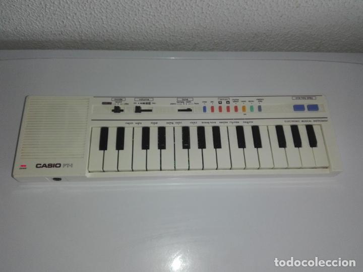 TECLADO PIANO CASIO PT1 PT-1 BLANCO FUNCIONANDO VINTAGE CG4 (Música - Instrumentos Musicales - Pianos Antiguos)