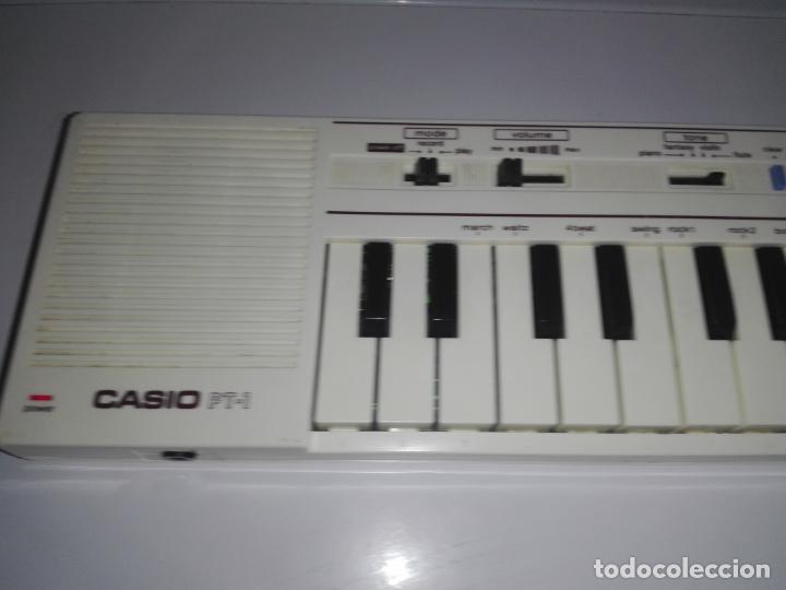 Instrumentos musicales: TECLADO piano CASIO PT1 PT-1 BLANCO FUNCIONANDO vintage cg4 - Foto 2 - 140405510