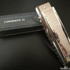 Instrumentos musicales: ARMÓNICA HARMONICA CHROMATICA II CON FUNDA AÑOS 70 VINTAGE ALEMANA 16 X4 CM. A ESTRENAR .. Lote 140412116