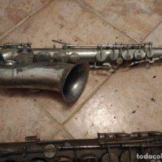 Instrumentos musicales: SAXOFÓN MUY ANTIGUO. PARA DECORACIÓN PIEZAS O RESTARUACION. Lote 140620630