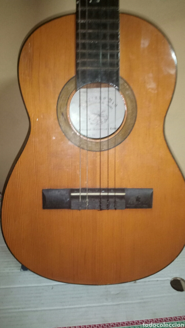 Instrumentos musicales: Guitarra antigua cadete para restaurar - Foto 2 - 151652746