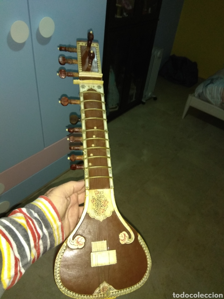 Instrumentos musicales: Sitar Antiguo de 12 Cuerdas - Foto 15 - 144015893
