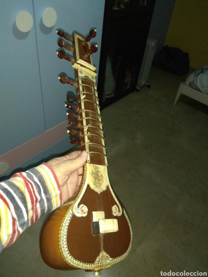 Instrumentos musicales: Sitar Antiguo de 12 Cuerdas - Foto 16 - 144015893