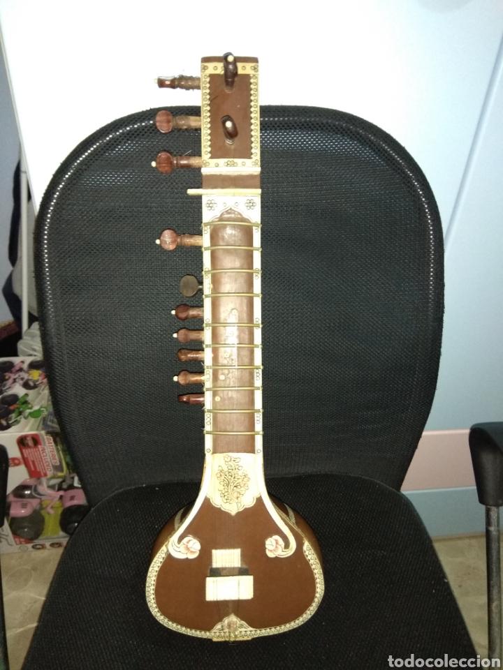 Instrumentos musicales: Sitar Antiguo de 12 Cuerdas - Foto 17 - 144015893