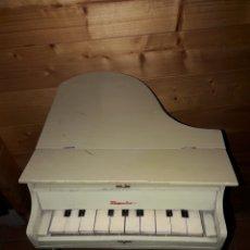 Instrumentos Musicais: PIANO DE MADERA.EXPOSICION/JUGUETE ANTIGUO CON TABURETE. MEDITERRANEO.. Lote 141218042