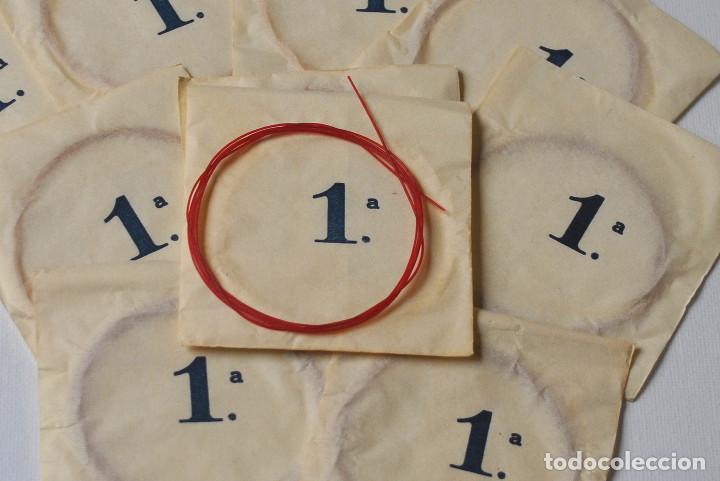 LOTE 10 CUERDAS ANTIGUAS TRIPA 1ª (Musik - Musikinstrumente - Alte Saiteninstrumente)