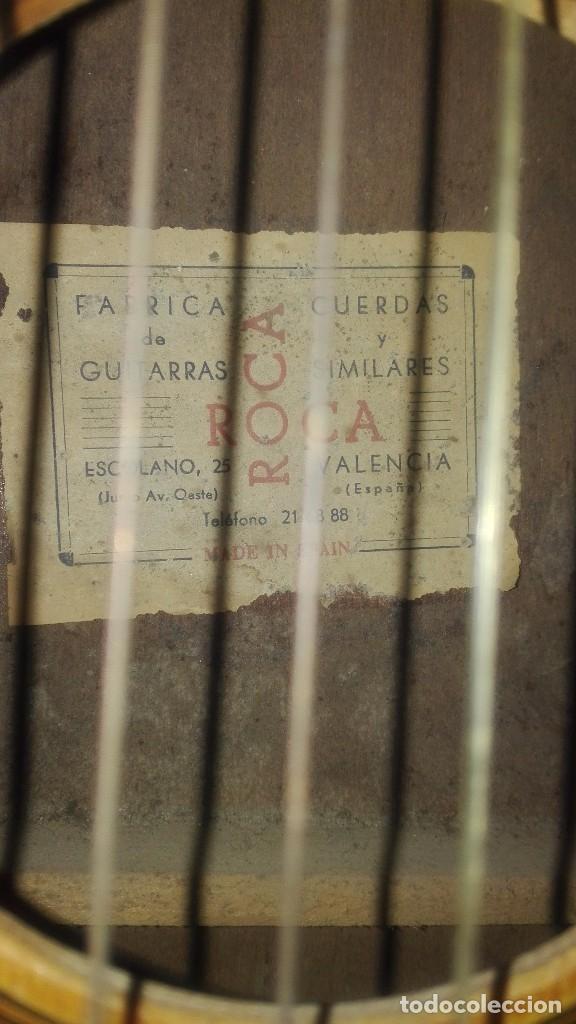 Instrumentos musicales: Guitarra antigua Roca.Valencia.años 60 - Foto 3 - 142439902
