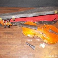 Instrumentos musicales: ANTIGUO VIOLÍN CON ESTUCHE ORIGINAL -PARA RESTAURAR- MED.: 64X20 CMS. CON CAJA (SR). Lote 142597994