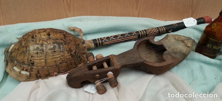 INSTRUMENTOS MUSICALES AFRICANOS. CUERDA. PAREJA. VIEJOS INSTRUMENTOS. (Música - Instrumentos Musicales - Cuerda Antiguos)
