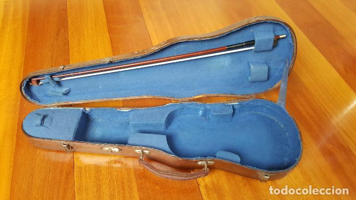 Instrumentos musicales: MALETÍN DE VIOLÍN ANTIGUO - Foto 2 - 144805186