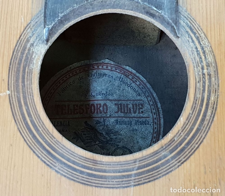 Musical instruments: BANDURRIA DE MADERA. 12 CUERDAS EMPAREJADAS. TELESFORO JULVE. VALENCIA. CIRCA 1930 - Foto 8 - 145609770