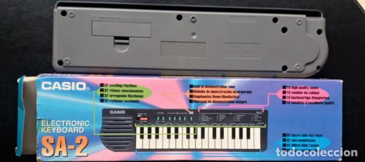 Instrumentos musicales: ANTIGUO TECLADO PIANO - CASIO SA-2 ELECTRONIC - Foto 4 - 145784546