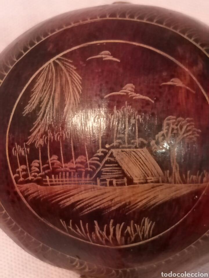 Instrumentos musicales: AUTÉNTICA MARACA CUBANA, HECHA CON COCO, VER - Foto 2 - 147106196