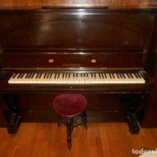 Instrumentos musicales: ESPECTACULAR PIANO ANTIGUO MARCA RONISCH FINALES S XIX CLAVIJERO METÁLICO TECLAS MARFIL COLOR MARRON. Lote 147938738