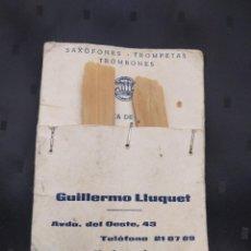 Instrumentos musicales: DOS CAÑAS VANDOREN PARA SAXOFÓN TROMPETA TROMBÓN - GUILLERMO LLUQUET - NILLIET - VALENCIA. Lote 148045978
