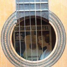 Instrumentos musicales: ANTIGUA GUITARRA ESPAÑOLA LLUQUET- TURIS VALENCIA . Lote 148557438