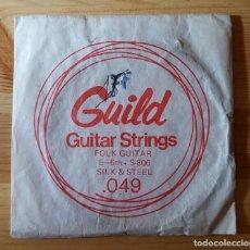 Instrumentos musicales: CUERDA DE GUITARRA ANTIGUA GUILD 049 FOLK GUITAR STRINGS MADE IN USA. Lote 149516794