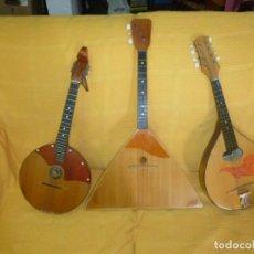 Instrumentos musicales: DOMRA,BALALAIKA Y MANDOLINA RUSAS. Lote 150256730