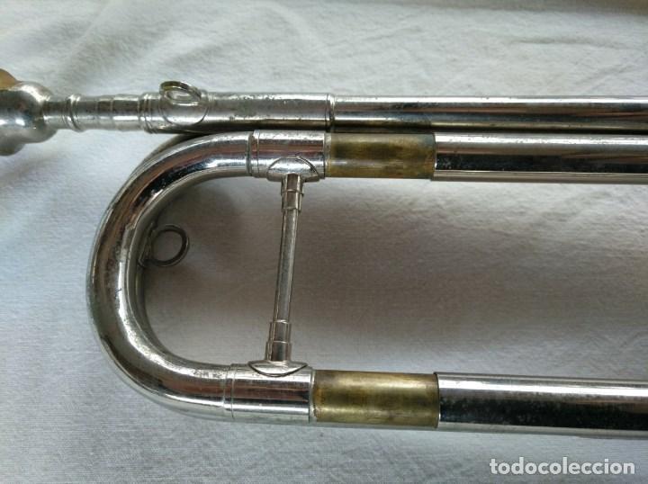 Instrumentos musicales: CORNETA AMERICANA MARCA JOHNSON SPECIAL, CON SU CAJA. - Foto 4 - 151932998