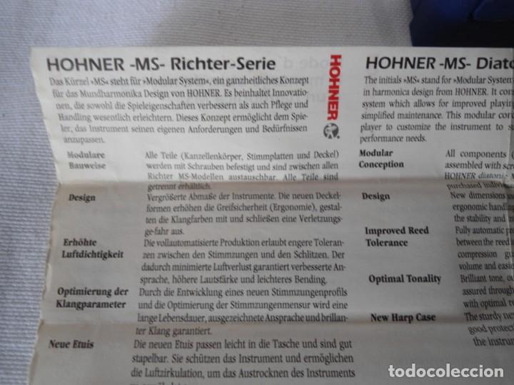 Instrumentos musicales: ARMONICA HOHNER BLUES HARP MS G - Foto 8 - 151978390