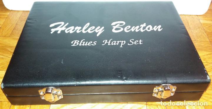 HARLEY BENTON BLUES HARP SET - MUNDHARMONIKAS - ARMONICA - HARMONICA SET DE 12 DIFERENTES EN SU CAJA (Música - Instrumentos Musicales - Viento Metal)