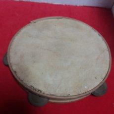 Instrumentos musicales: PANDERETA DE MADERA Y PIEL 20 CM DE DIÁMETRO. Lote 153247085