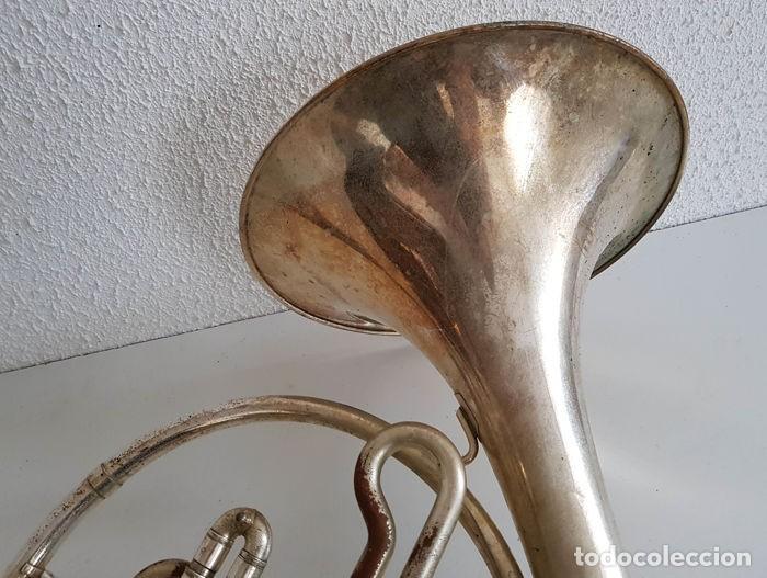 Instrumentos musicales: Trompa, Cuerno. Impresionante instrumento de viento. Años 60. Estuche original. - Foto 9 - 153992538