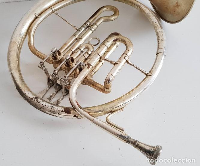 Instrumentos musicales: Trompa, Cuerno. Impresionante instrumento de viento. Años 60. Estuche original. - Foto 10 - 153992538