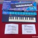Instrumentos musicales: TECLADO CASIO SA-9 ; 100 SOUND TONE BANK - FUNCIONA. Lote 154283506