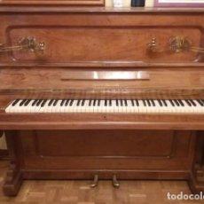 Instrumentos musicales: ANTIGUO PIANO VERTICAL ROBLE AMERICANO ROBERT MAURELL PERFECTO ESTADO. Lote 155376250