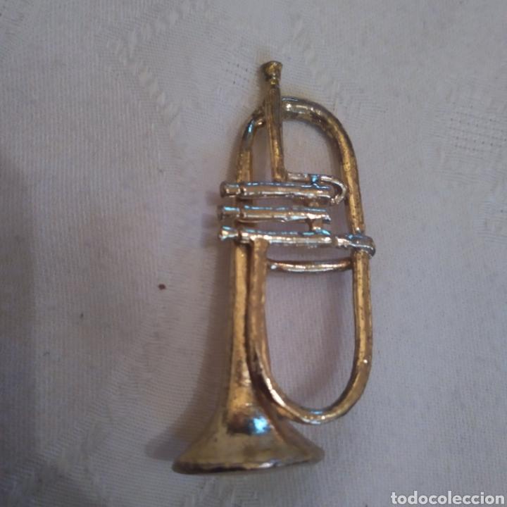 Instrumentos musicales: LOTE 6 MINIATURAS INSTRUMENTOS DE VIENTO EN METAL DORADO. - Foto 5 - 155491101