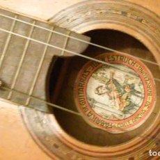 Instrumentos musicales: GUITARRA ANTIGUA JUAN ESTRUCH 1920-1959. UNICA Y RARISIMA CON CORDAL.. Lote 156142838