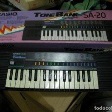 Instrumentos musicales: PIANO CASIO TONEBANK SA-20 EN SU CAJA . Lote 156637498