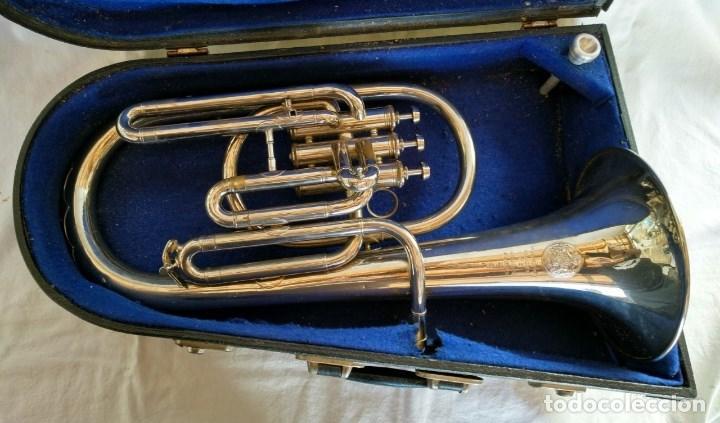 Instrumentos musicales: EXCELENTE BOMBARDINO DE LA CASA C. MAHILLON, BÉLGICA. - Foto 5 - 156885322
