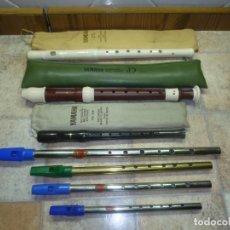 Instrumentos musicales: LOTE 7 FLAUTAS. Lote 158159006