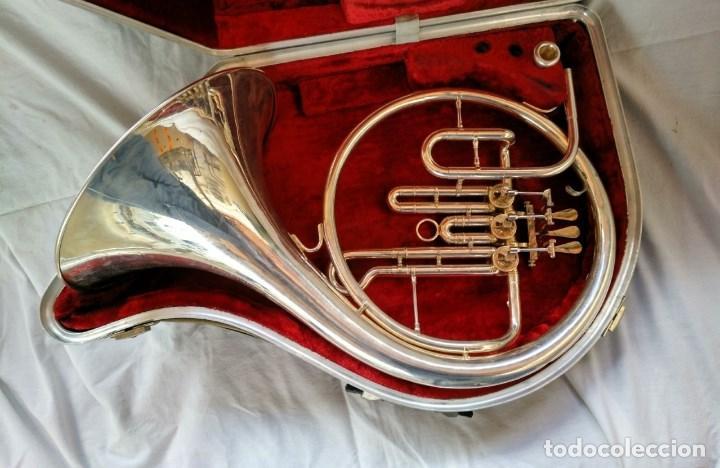 Instrumentos musicales: CORNO FRANCÉS. (TROMPA) EXCELENTE SONORIDAD. - Foto 2 - 158440150