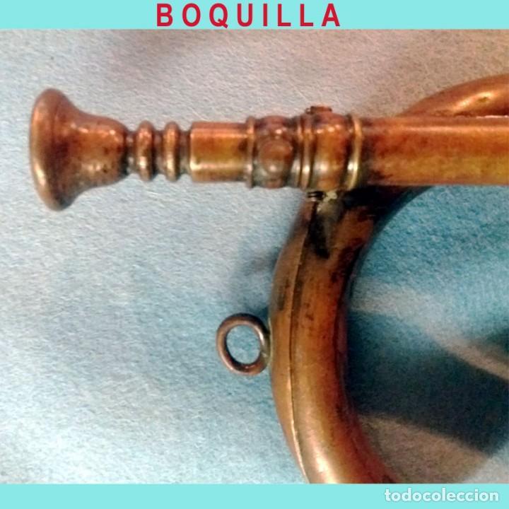 Instrumentos musicales: ANTIGUA CORNETA-TROMPETA MILITAR EN LATON. FUNCIONANDO 45 CM. - Foto 2 - 158510598