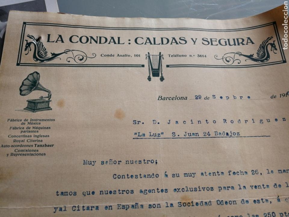 Instrumentos musicales: Catalogo y carta comercial de instrumentos de musica. 1916. - Foto 2 - 158910193