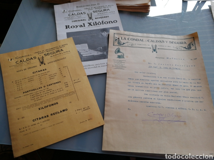 CATALOGO Y CARTA COMERCIAL DE INSTRUMENTOS DE MUSICA. 1916. (Música - Instrumentos Musicales - Accesorios)