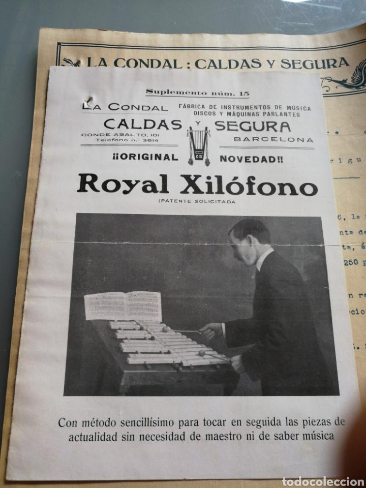 Instrumentos musicales: Catalogo y carta comercial de instrumentos de musica. 1916. - Foto 3 - 158910193