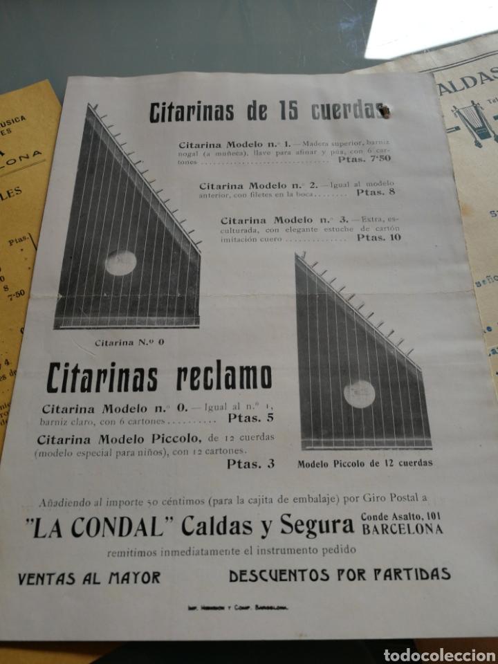 Instrumentos musicales: Catalogo y carta comercial de instrumentos de musica. 1916. - Foto 5 - 158910193